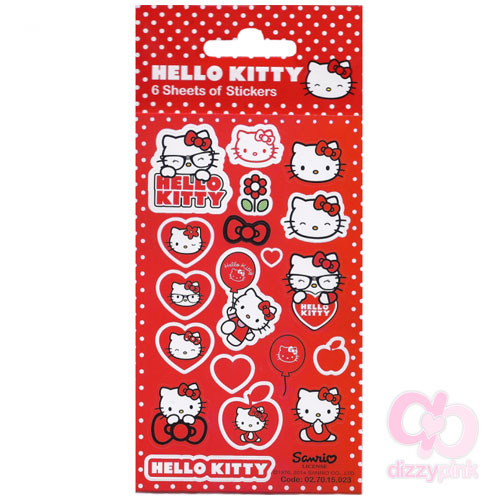 Hello Kitty Sticker Set - x6 Sheets