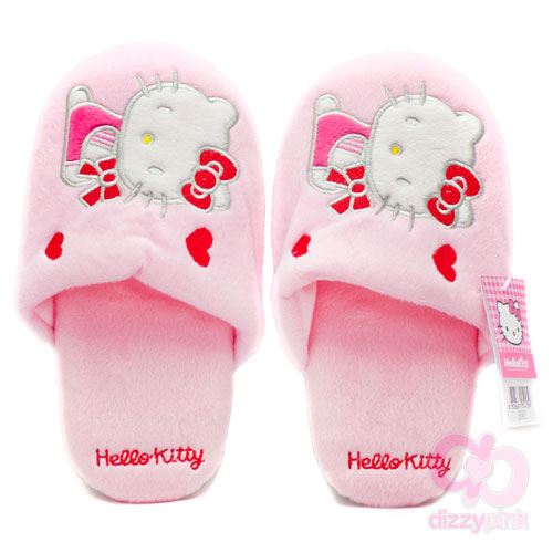 Hello Kitty Adult Slippers - Kitty and Hearts