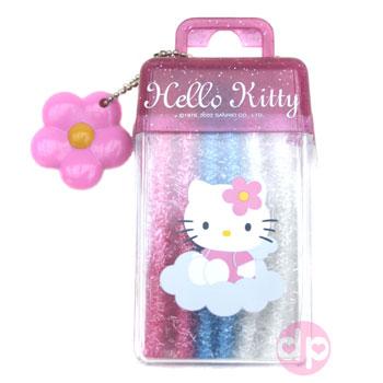 0bba4e857d0b Hello Kitty Ponytail Holder - Glitter Set