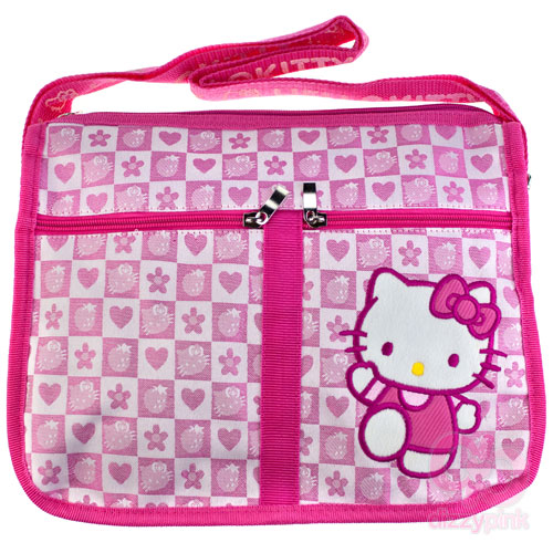 Hello Kitty Pink Strawberry Check Shoulder Bag