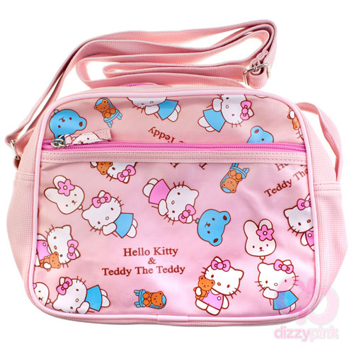 Hello Kitty & Teddy Cross Body Bag - Pink