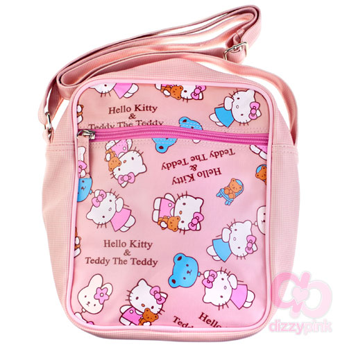 Hello Kitty & Teddy Pouch Bag - Pink