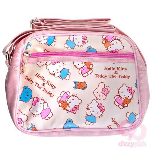 Hello Kitty & Teddy Cross Body Bag - White