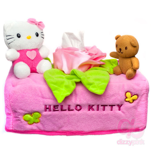 Hello Kitty Big Rose Tissue Box Cover