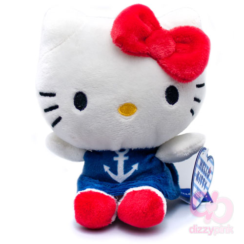 Hello Kitty Sailor Sweeties Plush - Blue Anchor Dress