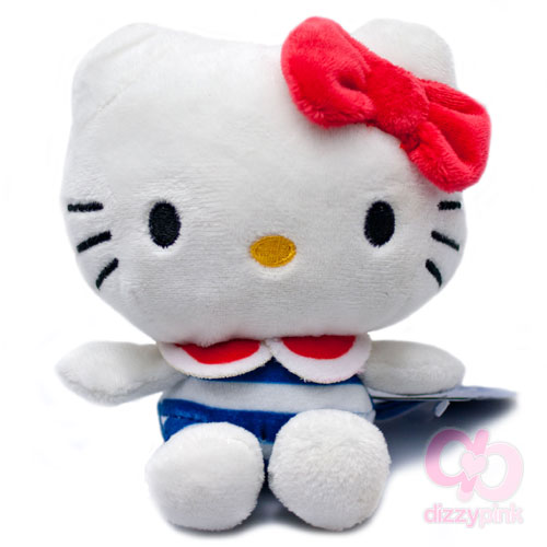 Hello Kitty Sailor Sweeties Plush - Blue Stripe Swimsuit