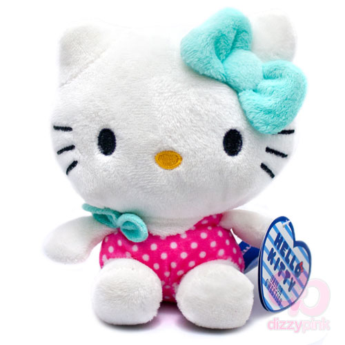 Hello Kitty Sailor Sweeties Plush - Pink Polka Swimsuit