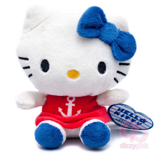Hello Kitty Sailor Sweeties Plush - Red Anchor Dress