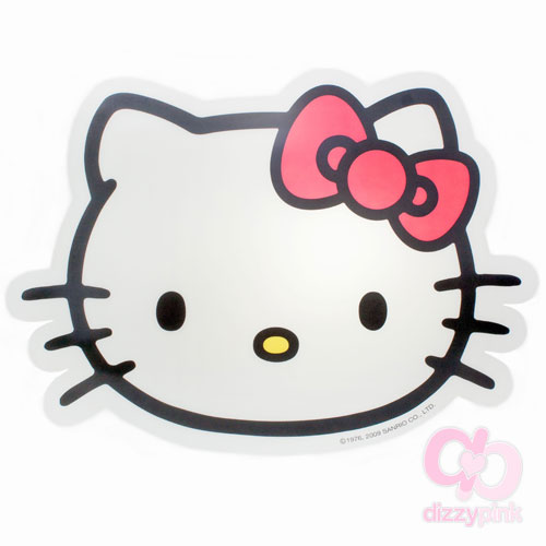 Hello Kitty D-Cut Place Mat Ribbon Kitty - Red