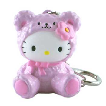 Hello Kitty Squeaky Key Ring - Pink Bear kitty