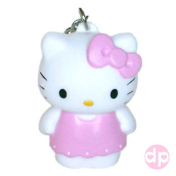 Hello Kitty Squeaky Key Ring - Angel Light Pink