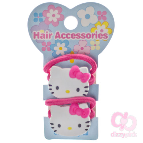 Hello Kitty Face - Pair of hair elastics