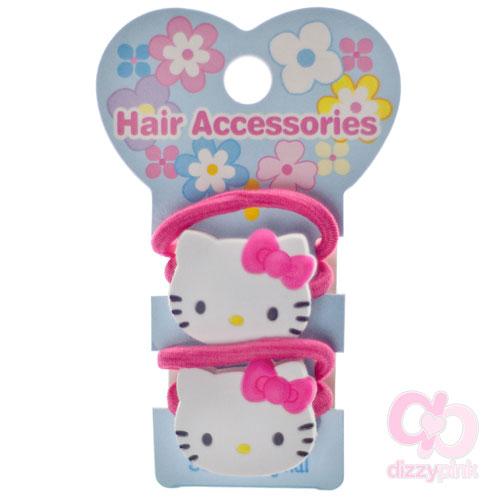 ebd580d91b16 Hello Kitty Face - Pair of hair elastics