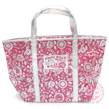 Hello Kitty Medium Hologram Cooler Bag - Pink