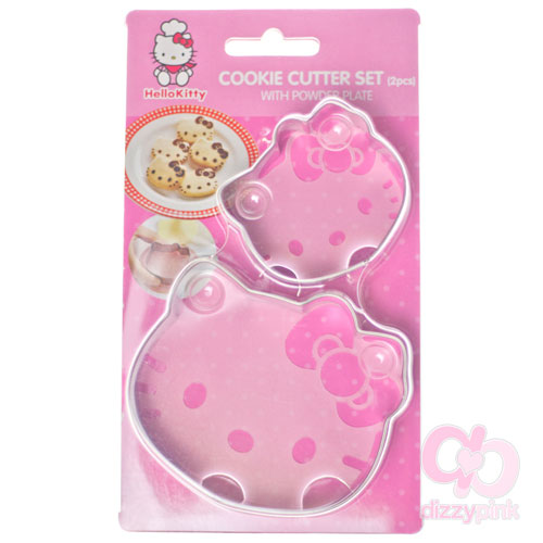 Hello Kitty Cookie Cutter Set with Powder Plate (2 Piece)