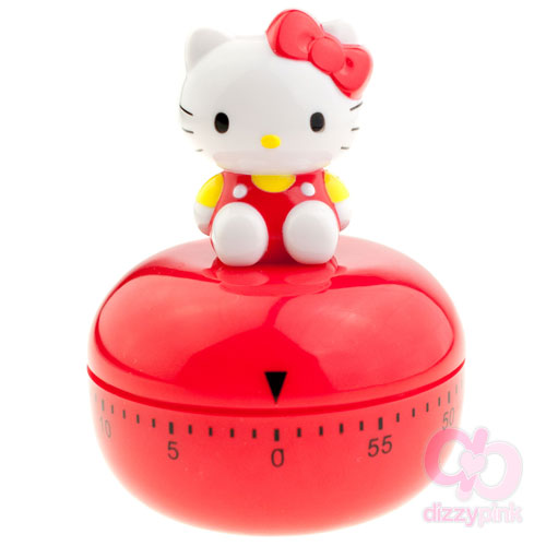 Hello Kitty D-Cut Kitchen Timer - Red Kitty