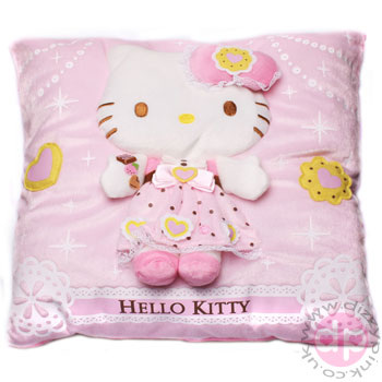 Hello Kitty 3D Relief Cushion - Sweetie Castle Kitty