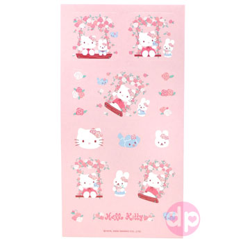 Hello Kitty Stickers - Swing Kitty