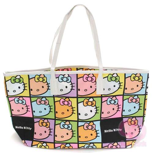 Hello Kitty Hand Bag Large - Faces Colourful (Light)