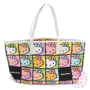Hello Kitty Hand Bag - Faces Colourful (Light) bdea8847a3363