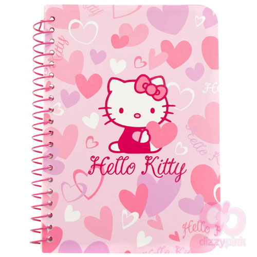 Hello Kitty Mini Spiral Notebook - Heart Pink Kitty