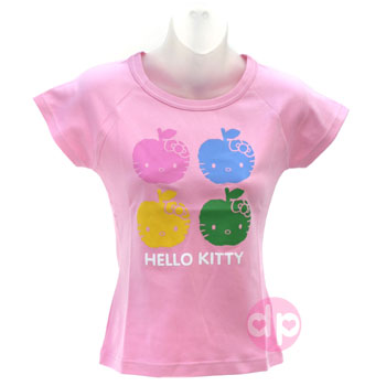 Hello Kitty T-Shirt - Apple Face Pink (M)