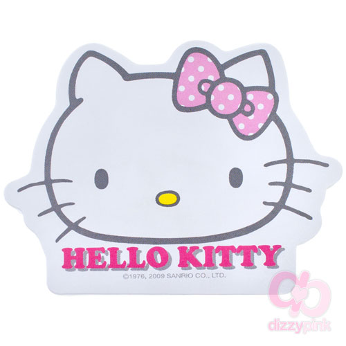 Hello Kitty Sticky Memo Pad - D-cut Kitty