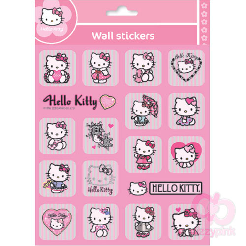 Hello Kitty Metallic Stickers - Pink Stripe