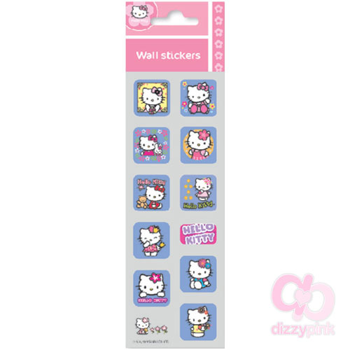 Hello Kitty Mini Metallic Stickers - Flowers