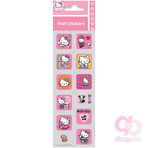 Hello Kitty Mini Metallic Stickers - Pink