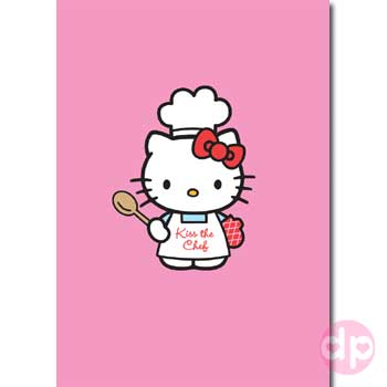 34a852617e Hello Kitty Card - Kiss The Chef