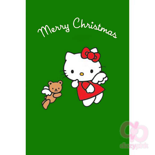 Hello Kitty Christmas Card - Christmas Angel Bear (Green)