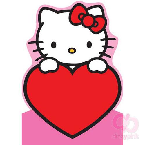 Hello kitty greeting cards hello kitty cutout card heart m4hsunfo