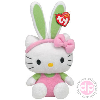Hello Kitty TY Easter Bunny - Pink Plushie